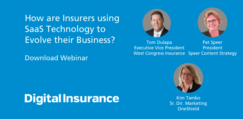How are insurers using SaaS technology to evolve their business?