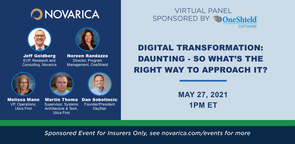 Novarica Virtual Panel with OneShield, Utica First, and DayStar